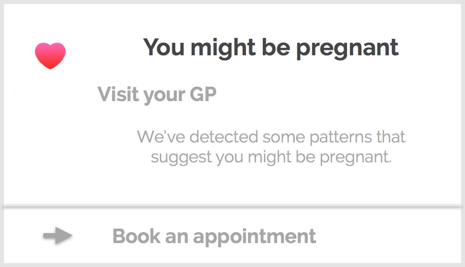 Google Told Me I'm Pregnant: From Strings to Diagnosis