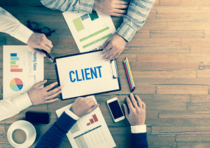 Business Team Concept: CLIENT
