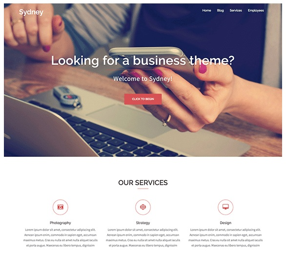 Sydney Free WordPress Theme